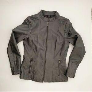 Reitmans Grey Moto Women's Spring Jacket - small